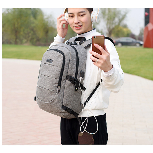 Custom Logo Laptop Backpack  Softback Modern Design Office Bags Laptop Backpack with USB Charger port