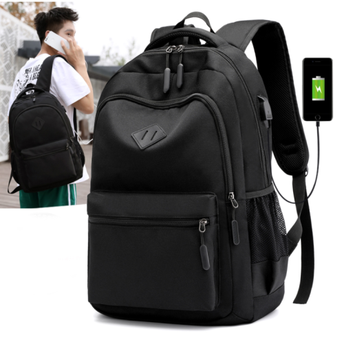Modern Student Laptop Backpack Design Polyester College Office 15.6 Inches Laptop Backpack with USB porting