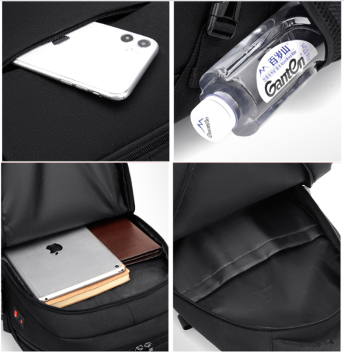 Multifunctional Waterproof Laptop Backpack Anti-theft Smart Student School Bags with USB Charger po