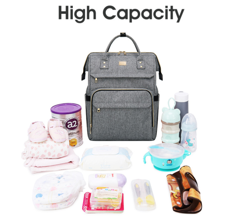 multifunction Waterproof Mummy Bag   Mother Baby Diaper Bag with USB Charger port