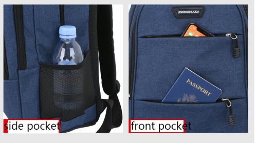 Travel bag Backpack Oxford Fabric Printing Logo  Travel School Bag Travel Backpack