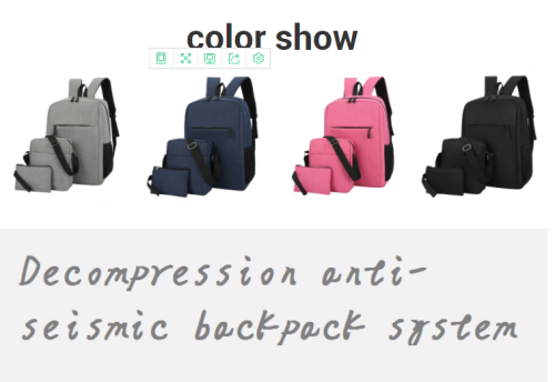 Fashion bag stude Mochila 3 pieces large capacity travel waterproof custom backpack with logo