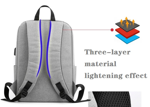 Fashion university men laptop backpack bags  custom logo waterproof usb anti theft backpack