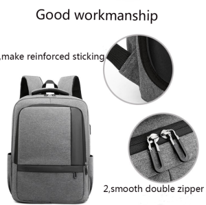 Laptop Backpack Bag USB Charger Oxford Fabric Anti-Theft Business school backpack