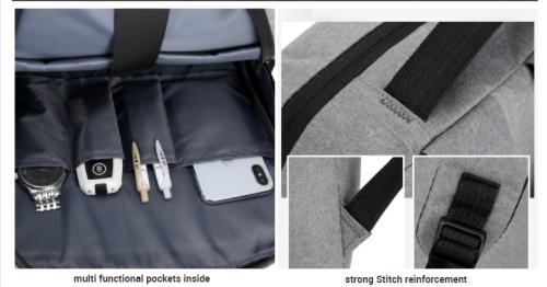 Business backpack large capacity men backpack waterproof custom backpack