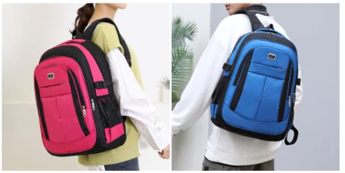 Wholesale Backpacks Women Men Large School Backpack Bookbags Black Travel Rucksack 17