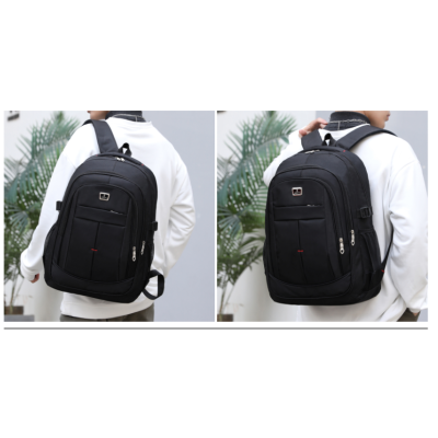 Wholesale Backpacks Women Men Large School Backpack Bookbags Black Travel Rucksack 17