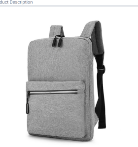 Customizable leisure business backpack waterproof safety bags
