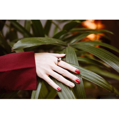 Vintage red warm color nail polish for women