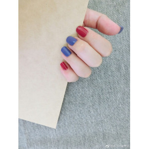 wholesale Pure red&blue Color Nail polish
