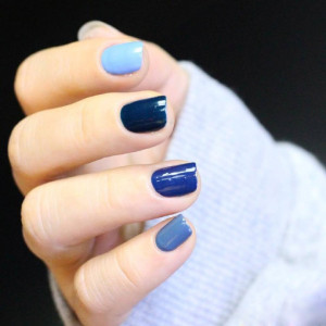 Blue Collection Gradient Color Glossy Nail Polish