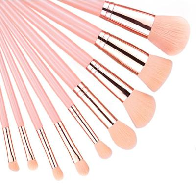 Pink silver luxury 11Pieces make up brushes Synthetic vegan Professional makeup brush set private label brochas de maquill