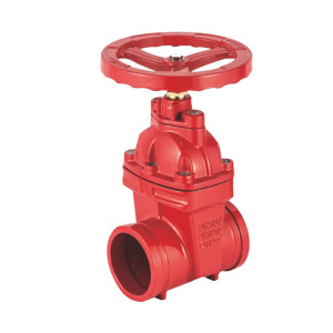 GROOVE TYPE NON RISING STEM RESILIENT SEATED GATE VALVE