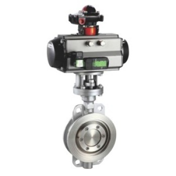 PNEUMATIC WAFER CLIP MULTI-LAYER METAL HARD SEAL BUTTERFLY VALVE