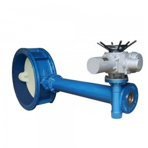 FLANGE BUTTERFLY VALVE WITH ELECTRIC ELONGATED ROD