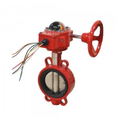 FIRE FIGHTING SIGNAL WAFER TYPE BUTTERFLY VALVE
