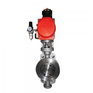 PNEUMATIC WAFER METAL-SEAL BUTTERFLY VALVE