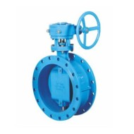 WORM GEAR DOUBLE ECCENTRIC SOFT SEALING BUTTERFLY VALVE