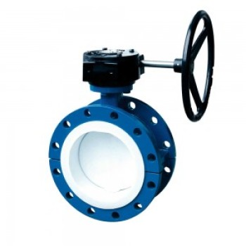 TURBINE FLANGE FULLY LINED BUTTERFLY VALVE