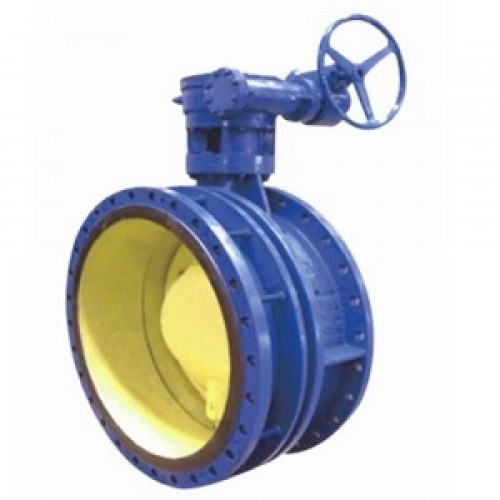 RESILIENT SEATED ECCENTRIC FLEXIBLE WORM GEAR FLANGE BUTTERFLY VALVE