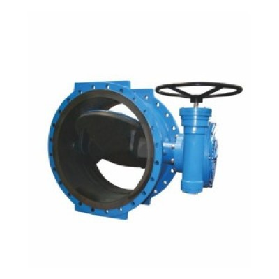 D342 WORM GEAR FLANGE TYPE FULLY LINED ECCENTRIC BUTTERFLY VALVE