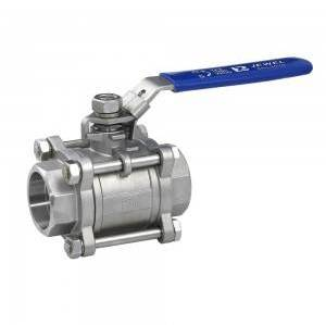 THREE-PIECE SPIKE BALL VALVE