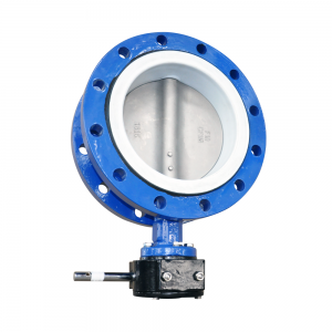 FLUORINE-LINED FLANGE BUTTERFLY VALVE D341F46