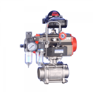 PNEUMATIC THREE PIECE SCREW BALL VALVE Q611F