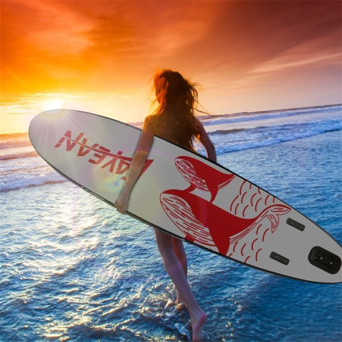 Whale Design China Wholesale Inflatable Paddle Board Hiqh Quality Surf Board Custom Sup Board red