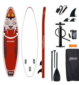 Tiger Design China Wholesale Inflatable Paddle Board Hiqh Quality Surf Board Custom Sup Board Red
