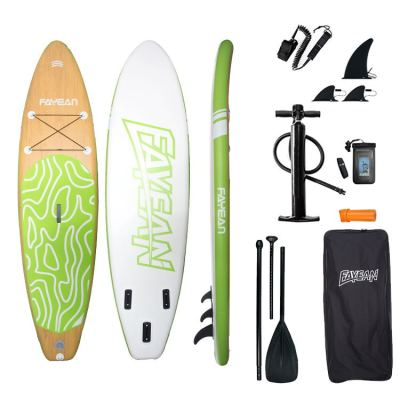 Bamboo Design China Wholesale Inflatable Paddle Board Hiqh Quality Surf Board Custom Sup Board