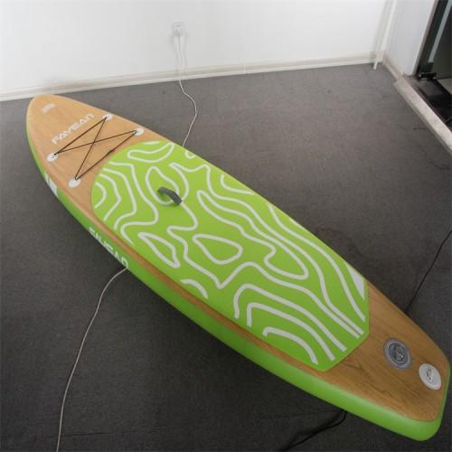 Bamboo Design China Wholesale Inflatable Paddle Board Hiqh Quality Surf Board Custom Sup Board