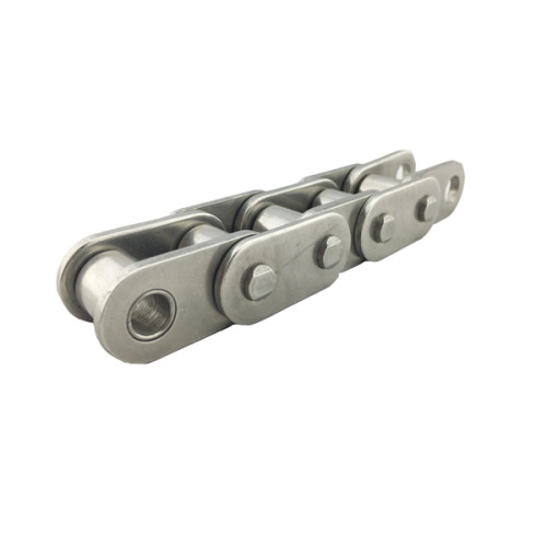 Stainless steel roller chain with straight side plates