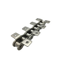 Short pitch stainless steel chain A&K series attachments