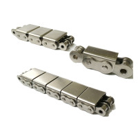 Stainless steel conveyor chain with rubber blocks | s steel chain attachments | Roller chain manufacturers