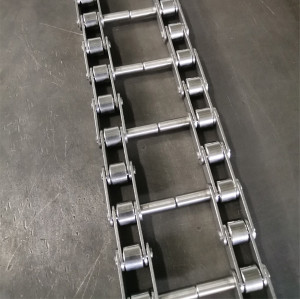 Double pitch stainless steel chain with extended pins