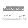Short pitch roller chain WSA&WSK series attachments | Industrial roller chain conveyor | Roller chain attachments