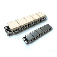 Stainless steel conveyor chain with rubber blocks   s steel chain attachments   Roller chain manufacturers