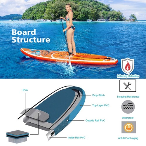 Inflatable Stand Up Paddle Board-Koi