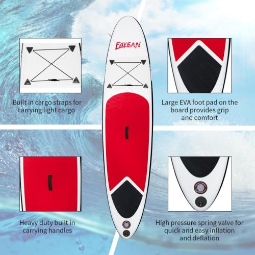 Inflatable Stand Up Paddle Board-Red Whale