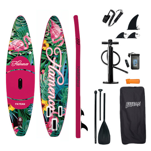 Inflatable Stand Up Paddle Board-Flamingos