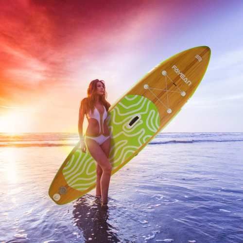 Inflatable Stand Up Paddle Board-Bamboo