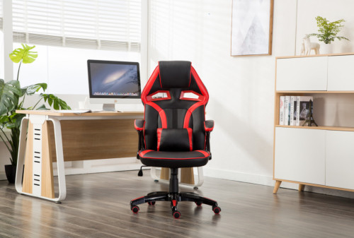 Ergonomic Backrest and Seat Recliner Computer High Back Gaming Chairs of  Racing 003 Red
