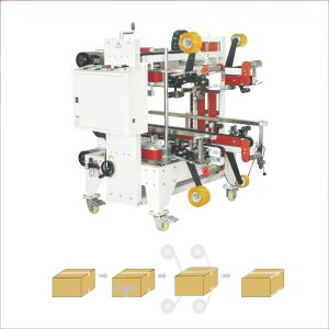 Box sealing machine with four corners