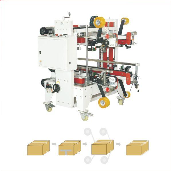 Box sealing machine with four corners