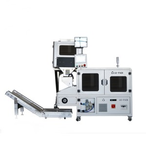 Automatic feeding machine + counting machine + tube film packaging machine