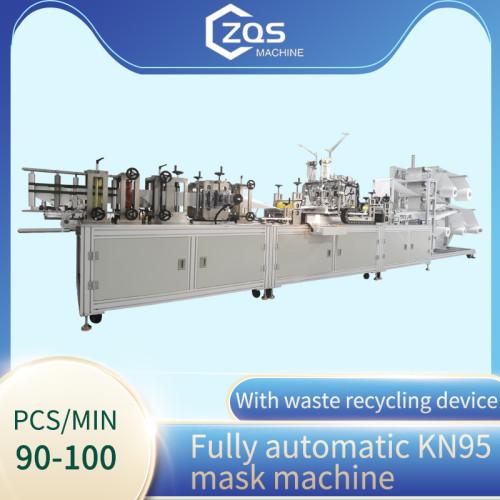 2021 full automatic high speed 90-100pcs per min KN95 mask machine