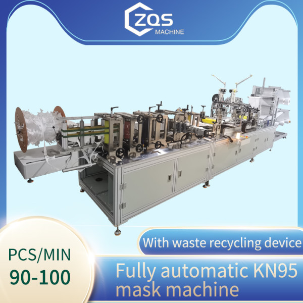 2021 full automatic high speed 90-100pcs per min KN95 mask machine