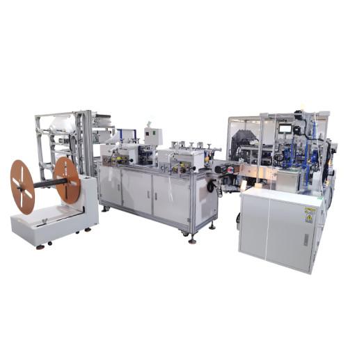 1+1 KF94 fish mask machine with 4 channel  packing machine