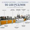 2021 fully automatic high speed 2PLC 90-100pcs per min KN95/N95 mask machine